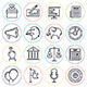 Election and Voting Line Icons - GraphicRiver Item for Sale
