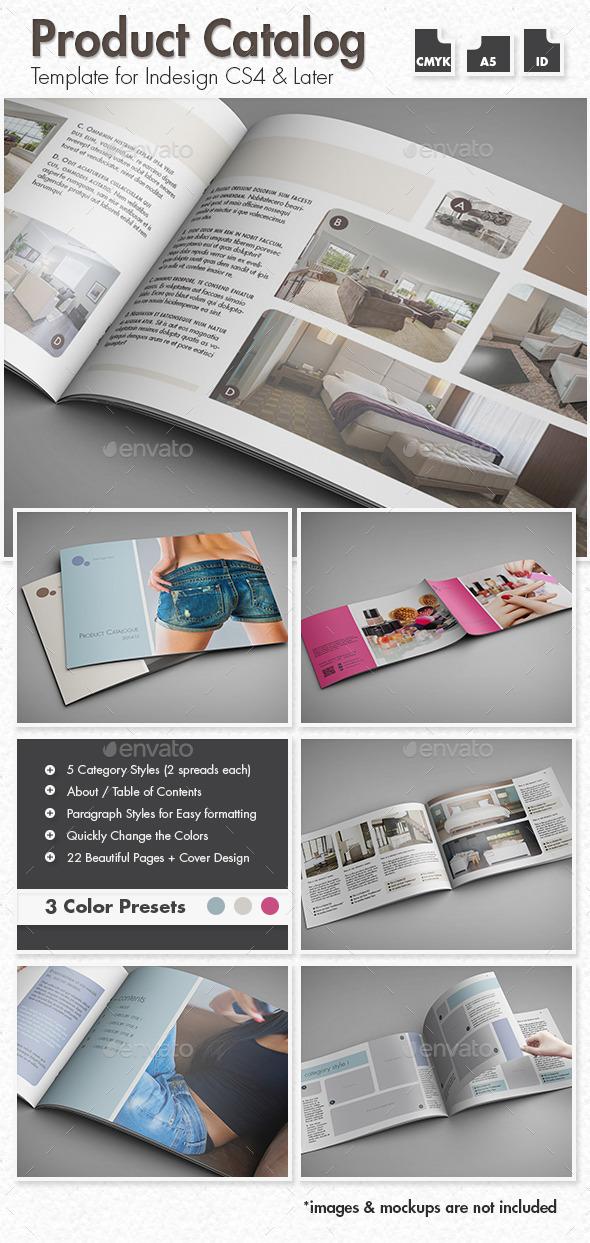 GraphicRiver Product Catalog A5 Landscape 10389152