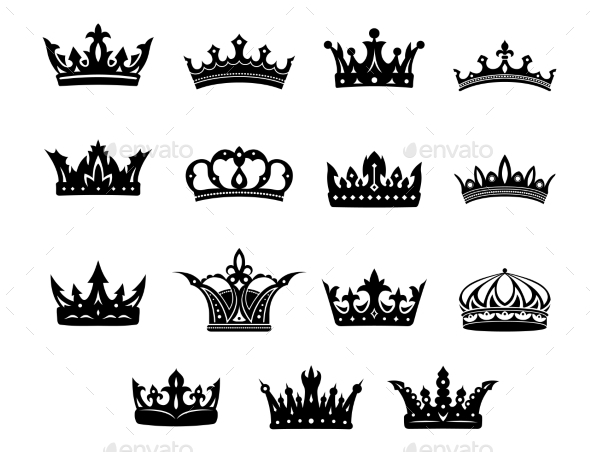 GraphicRiver Set of Royal Crowns 10389344