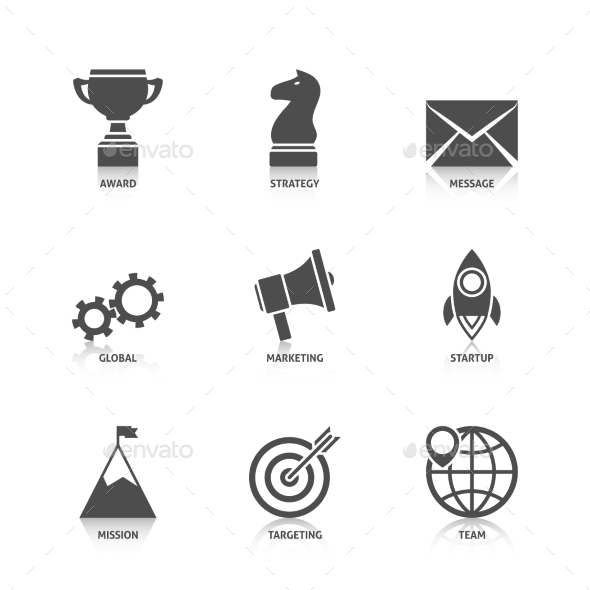 GraphicRiver Start Up Icons with Reflection 10389464