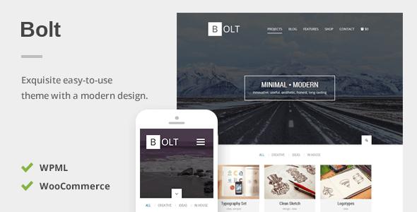 Bolt - A Delightful Responsive WordPress Theme