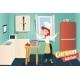 Cartoon Apartment Kitchen Interior - GraphicRiver Item for Sale
