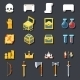RPG Game Accessories Icons Set