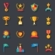 Awards Symbols and Trophy Icons Set - GraphicRiver Item for Sale