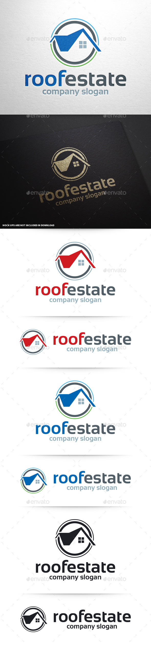 GraphicRiver Roof Estate Logo Template 10390400