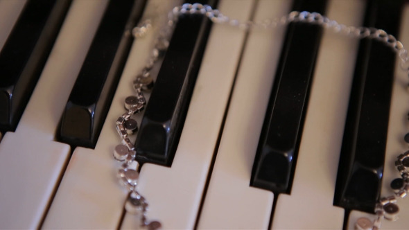 Decoration Bride on Piano Keys