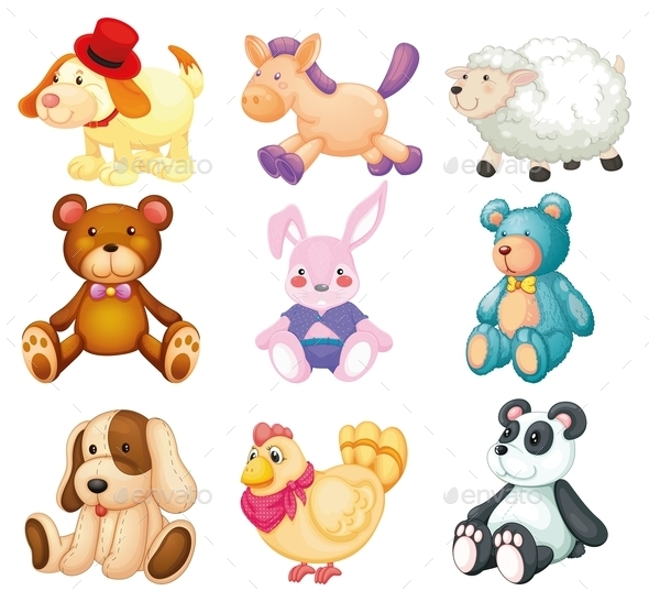 GraphicRiver Stuffed Animals 10390836