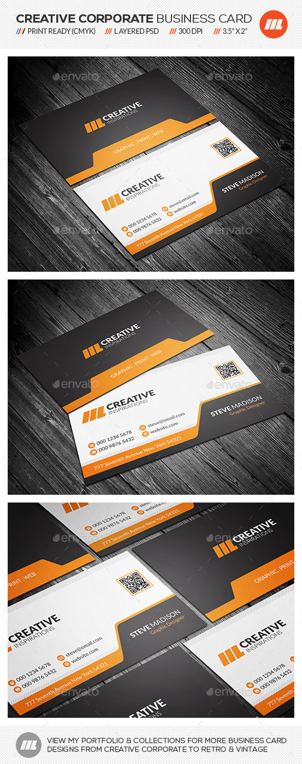 GraphicRiver Modern Corporate Business Card 10391291