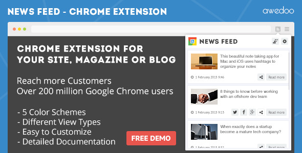 CodeCanyon News Feed Chrome Extension 10391318