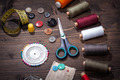 Vintage set of threads scissors and buttons - PhotoDune Item for Sale