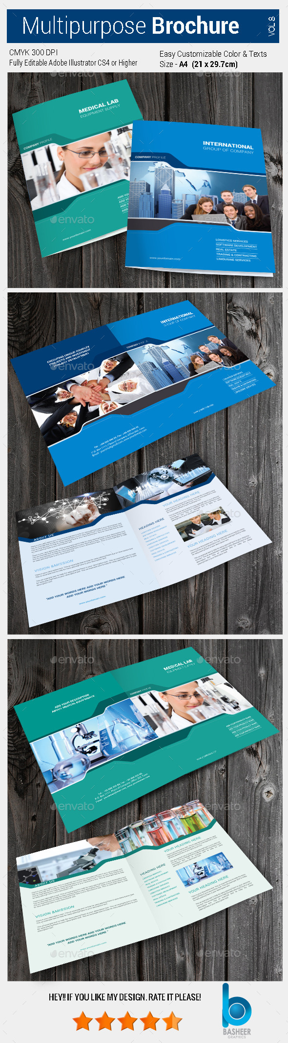 GraphicRiver Multipurpose Bi-fold Brochure Vol-8 10391488