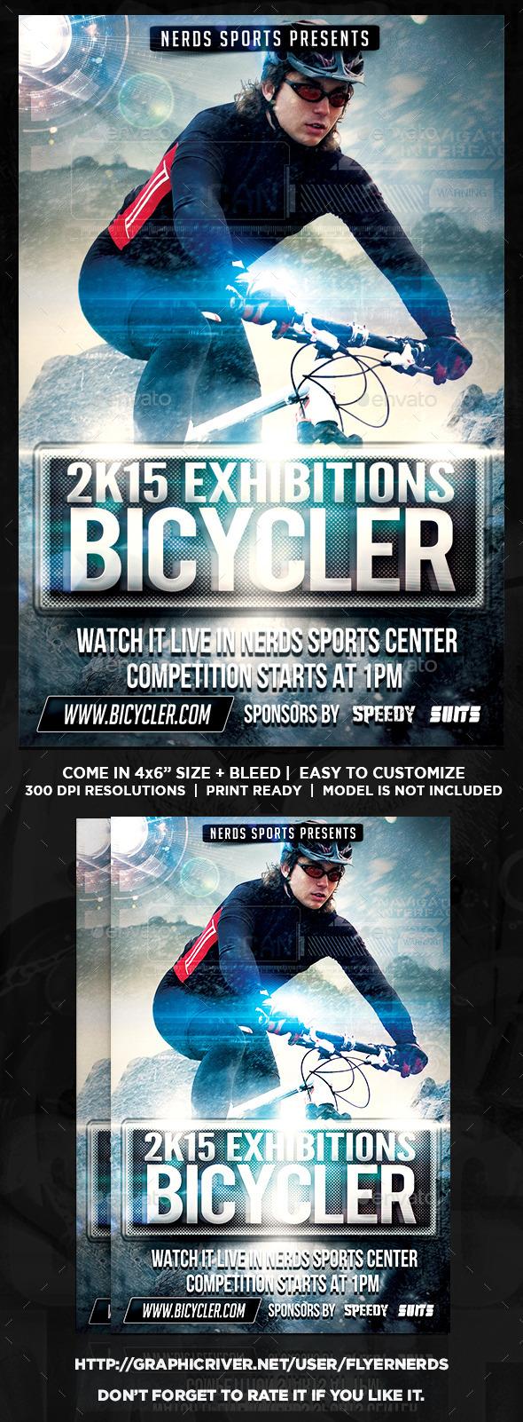GraphicRiver Extreme Bike Sports Flyer 10391512