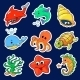 Illustration of the Different Sea Creatures - GraphicRiver Item for Sale