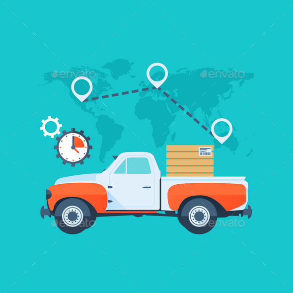 GraphicRiver Delivery Service Concept 10365812
