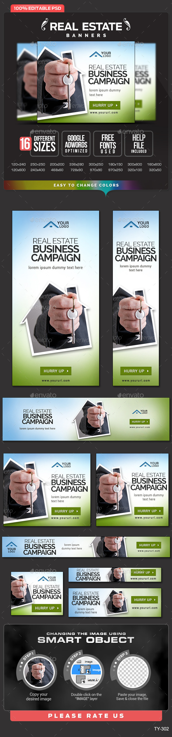 GraphicRiver Real Estate Banners 10391938