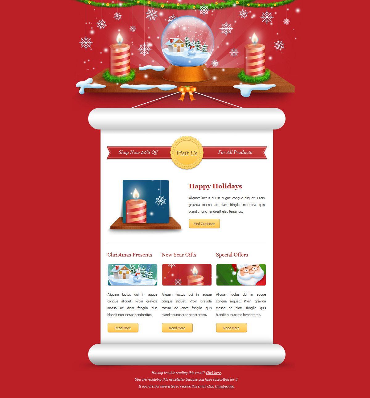 Exclusive New Year Newsletter by ThemeWish – New Year Email Template