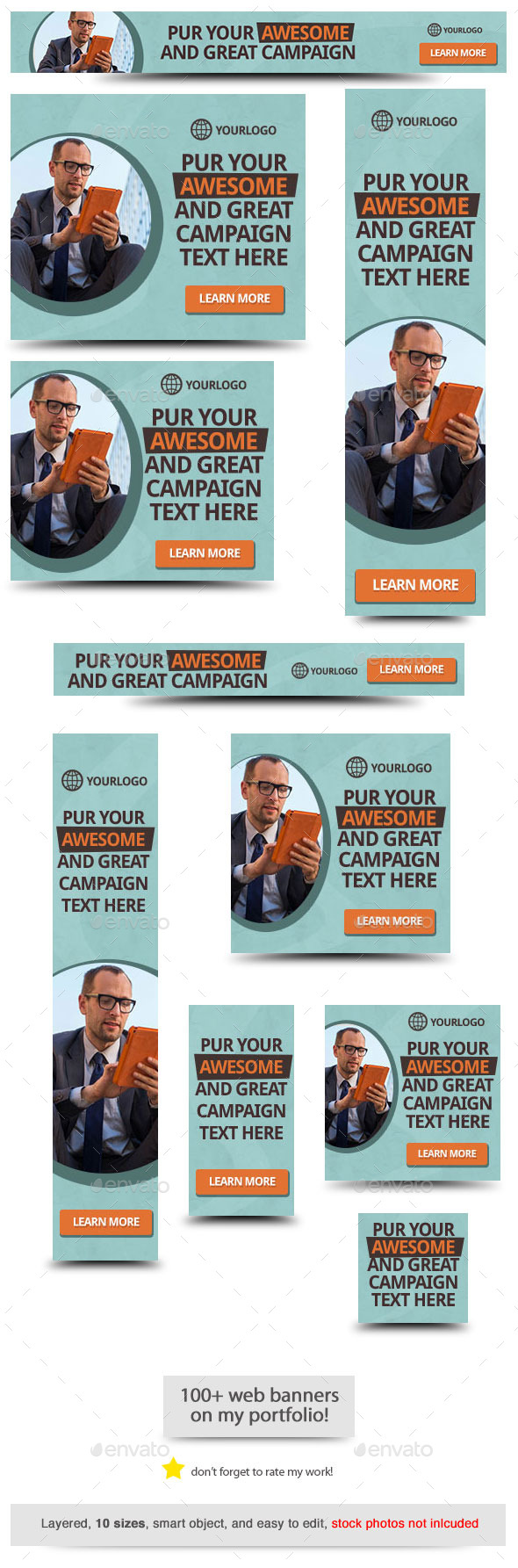 GraphicRiver Awesome and Great Web Banner 10392826
