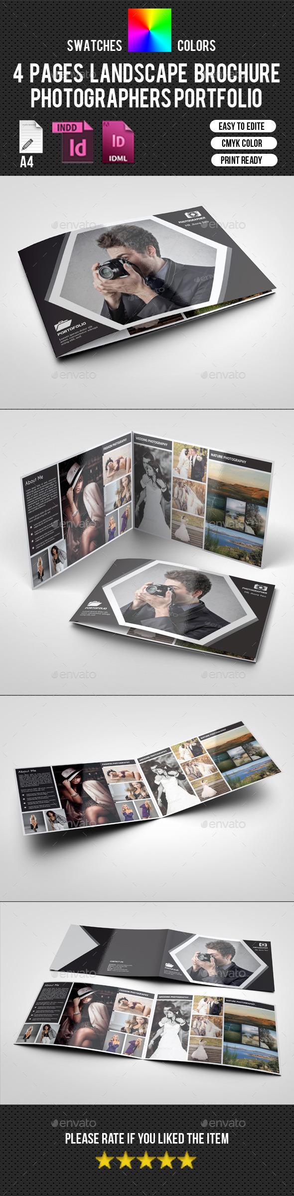 4 Pages Landscape Photography Brochure-V197
