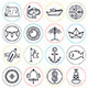 Marine and Nautical Line Icons - GraphicRiver Item for Sale