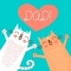 Fathers Day Card with Cats - GraphicRiver Item for Sale