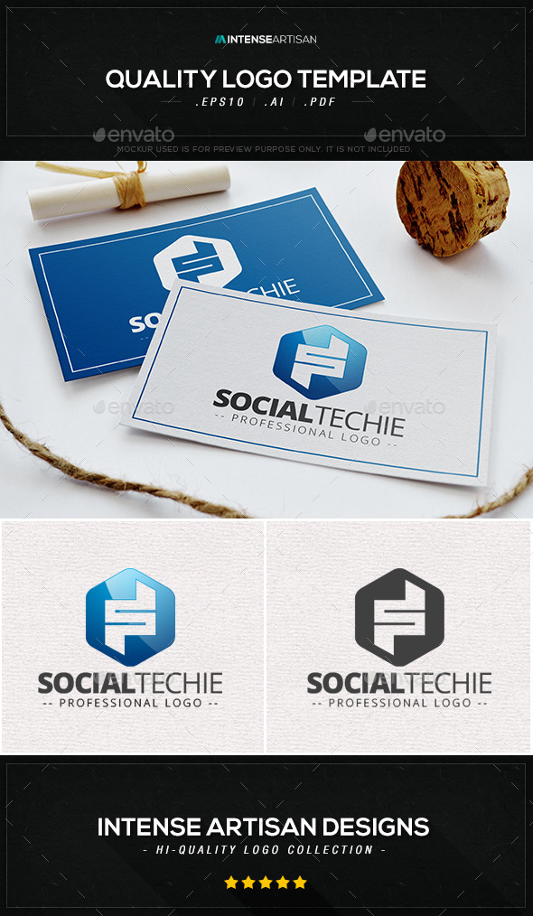 GraphicRiver Social Techie Logo Template 10393057