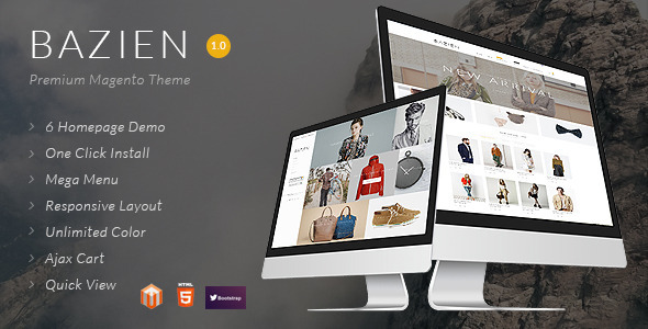 ThemeForest Bazien Magento Theme 10393204