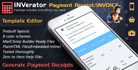 ThemeForest Invoice Template Payment Receipt Email Builder 10393399