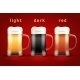 Beer Mugs with Three Brands - GraphicRiver Item for Sale