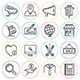 Online Commerce Line Icons - GraphicRiver Item for Sale