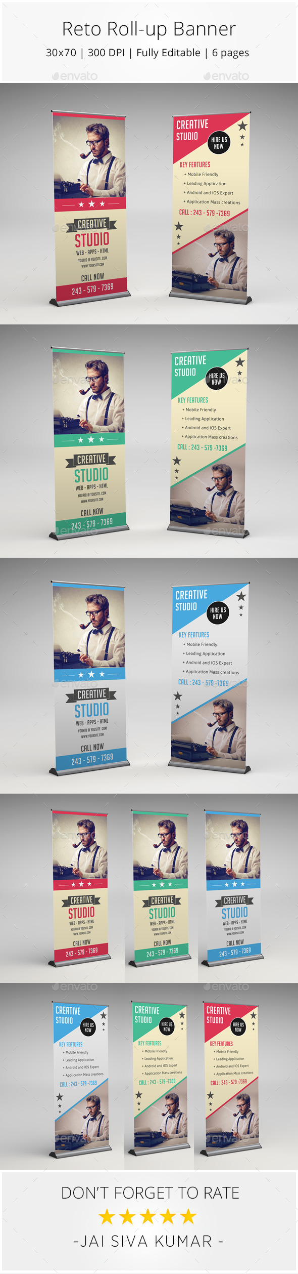 GraphicRiver Retro Rollup Banner 10393914