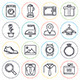 Retail and Shopping Line Icons - GraphicRiver Item for Sale