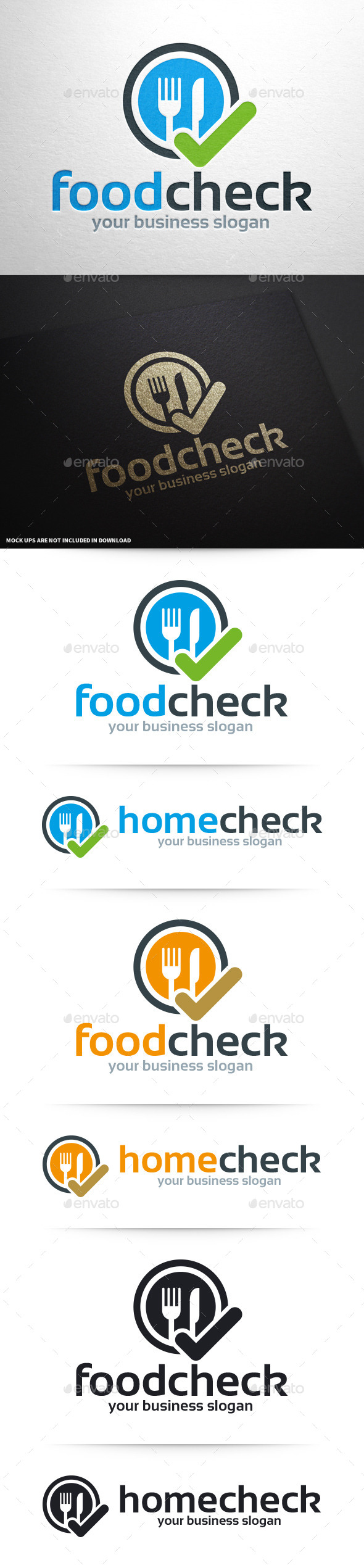 GraphicRiver Food Check Logo Template 10393974