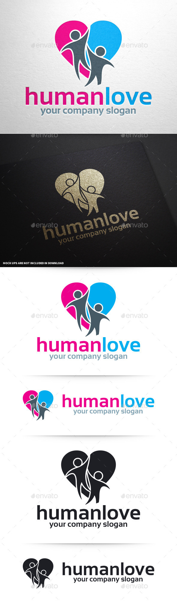 GraphicRiver Human Love Logo Template 10394051