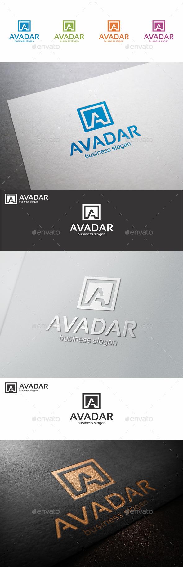 GraphicRiver A Letter Logo Shape Avadar 10394213