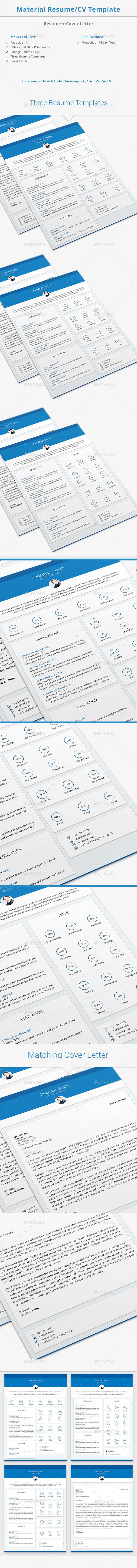 Material Resume / CV Template