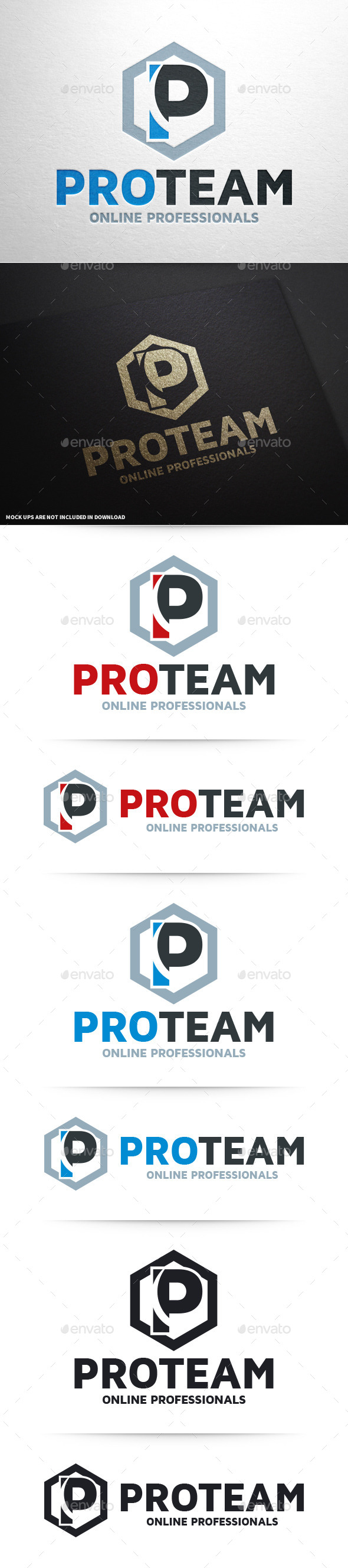 GraphicRiver Pro Team Letter P Logo 10394559