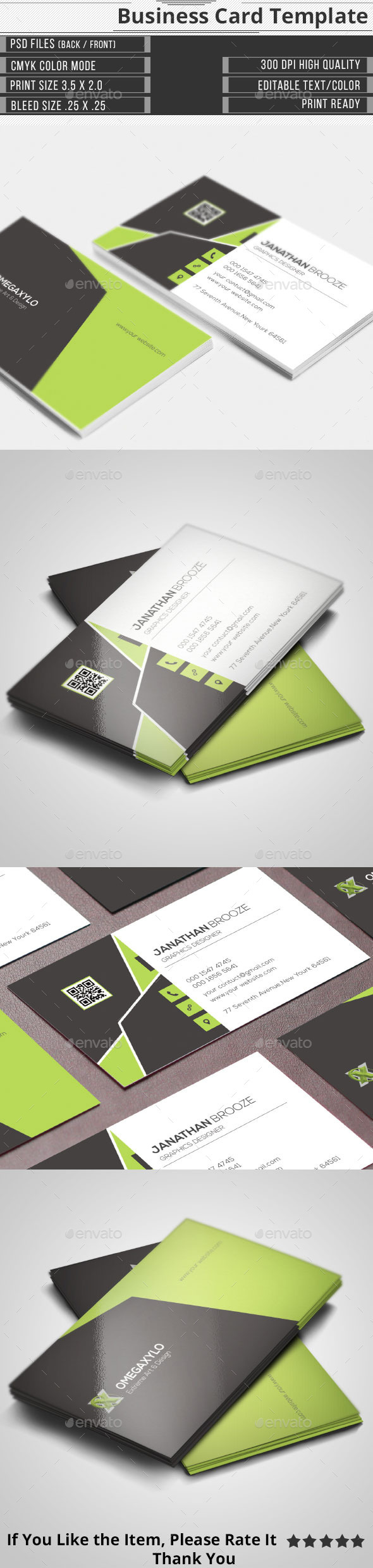 GraphicRiver Elegant Corporate Business Card 10394563