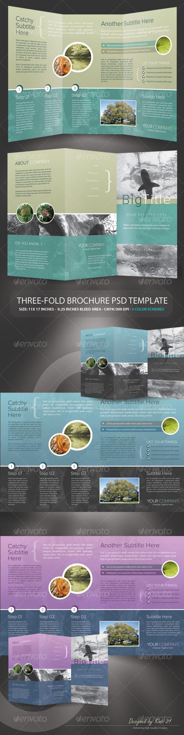 GraphicRiver Tri-fold Brochure PSD Template 130945