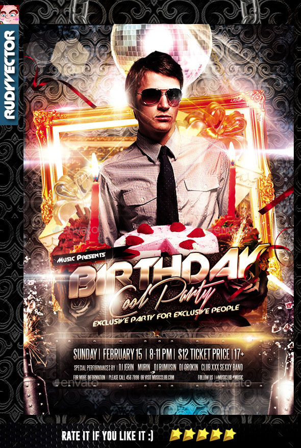 GraphicRiver Exclusive Birthday Party Flyer Template 10394947