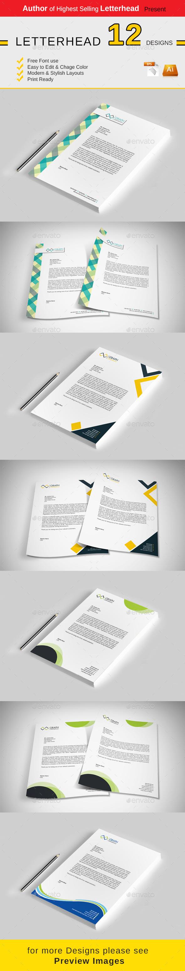 GraphicRiver Letterhead 10395111