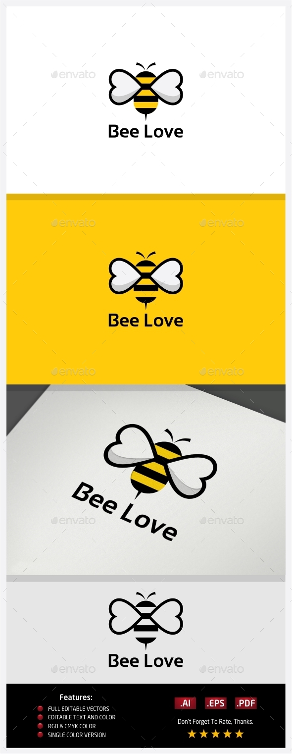 GraphicRiver Bee Love Logo 10395230