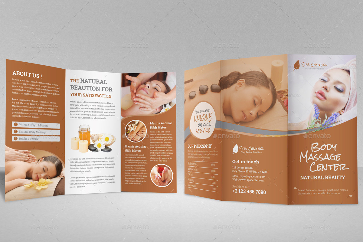 Spa Beauty Salon Trifold Brochure Template By Janysultana Graphicriver