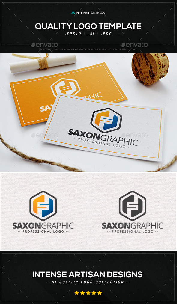 GraphicRiver Saxon Graphic Logo Template 10395286