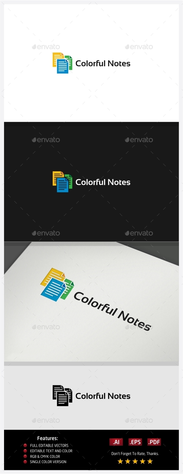 GraphicRiver Colorful Notes 10395300