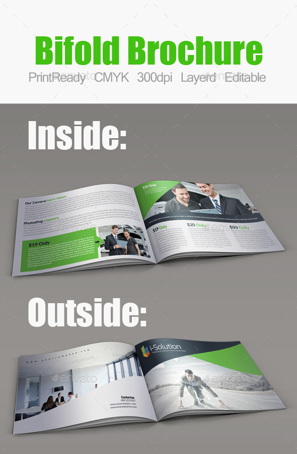 GraphicRiver Minimal Bifold Square Brochure 10395400