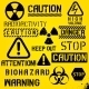 Set of Warning Hazard Symbols