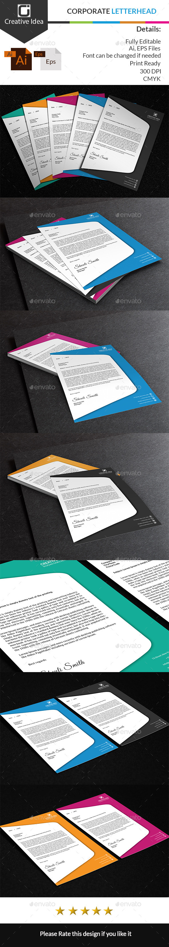 GraphicRiver Corporate Letterhead 10395426