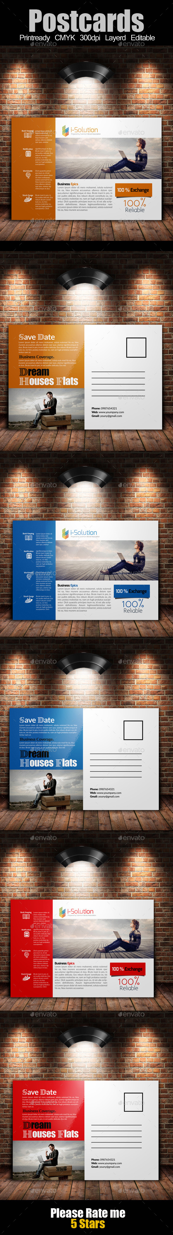 GraphicRiver Multi Use Business Post Cards 10395571