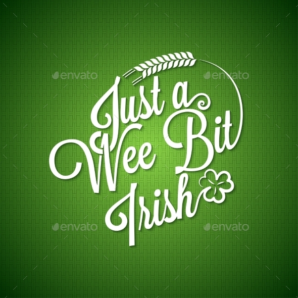 GraphicRiver Patrick Day Vintage Irish Background 10395611