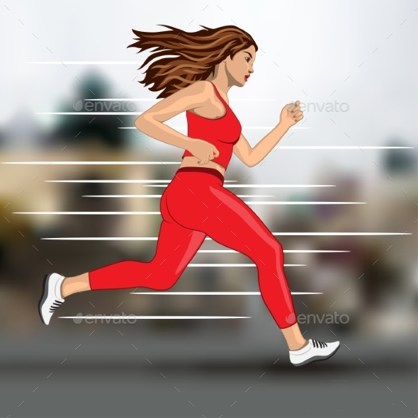 GraphicRiver Running Woman 10395660